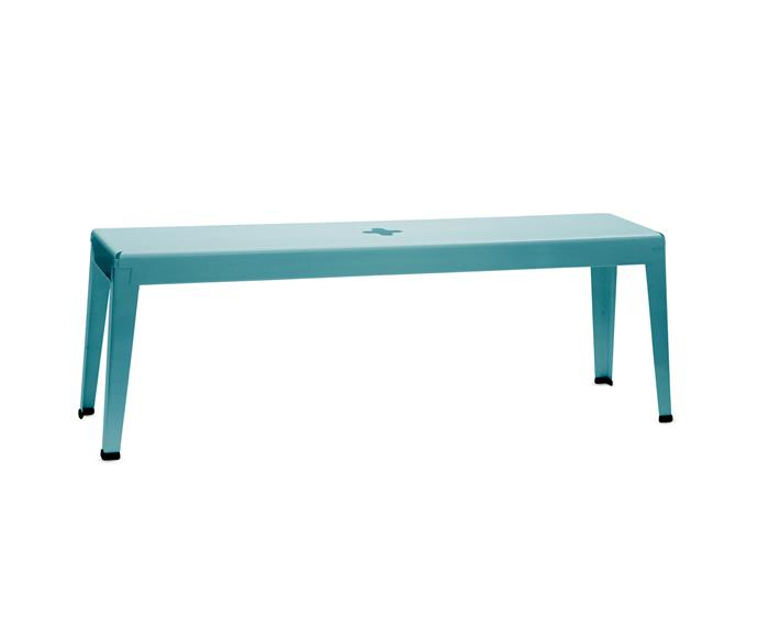"""Good One powder-coated aluminium **bench**, $810, [Tait](http://www.madebytait.com.au/?utm_campaign=supplier/