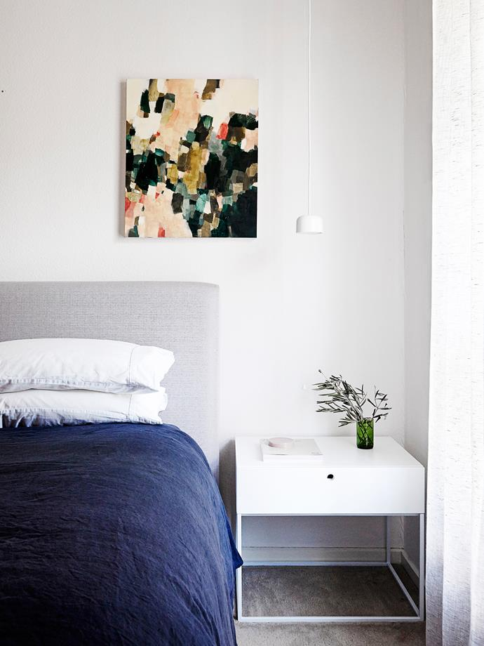 """In the master bedroom, carpet enhances the cosy feel while the white [Globe West](http://www.globewest.com.au//?utm_campaign=supplier/