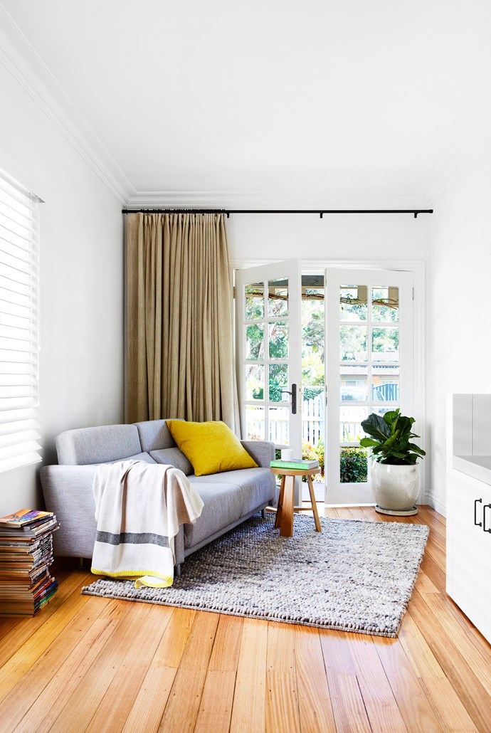 """The house has been designed to take advantage of the natural light, so it feels summery year-round,"" says Rebecca. Sofa, [Domo](http://www.domo.com.au//?utm_campaign=supplier/