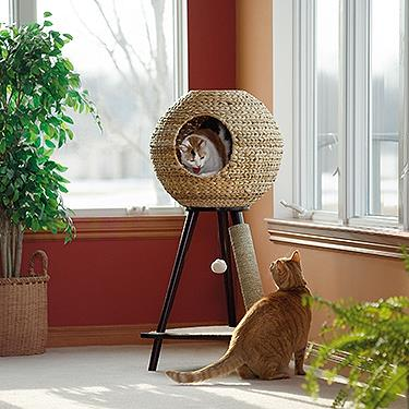 "Natural sphere cat tower. Photo: [Sauder](http://www.sauder.com/Products/416821.aspx#prettyPhoto/?utm_campaign=supplier/|target=""_blank"")"