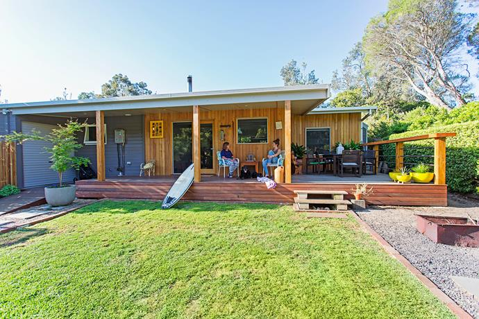 The new back deck was designed to make the most of all times of day and any weather.
