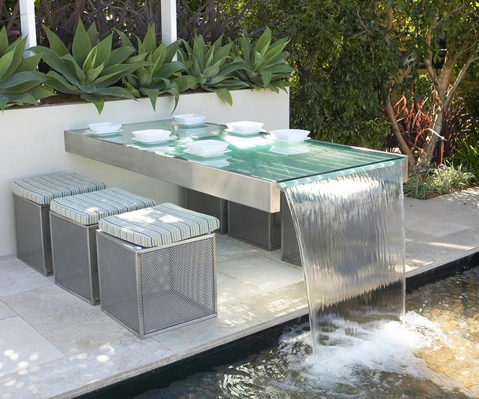 Adding a water feature to your home is a great way to update your outdoor area and easily impress your guests! Photo: Kylie Rae / Bauersyndication.com.au