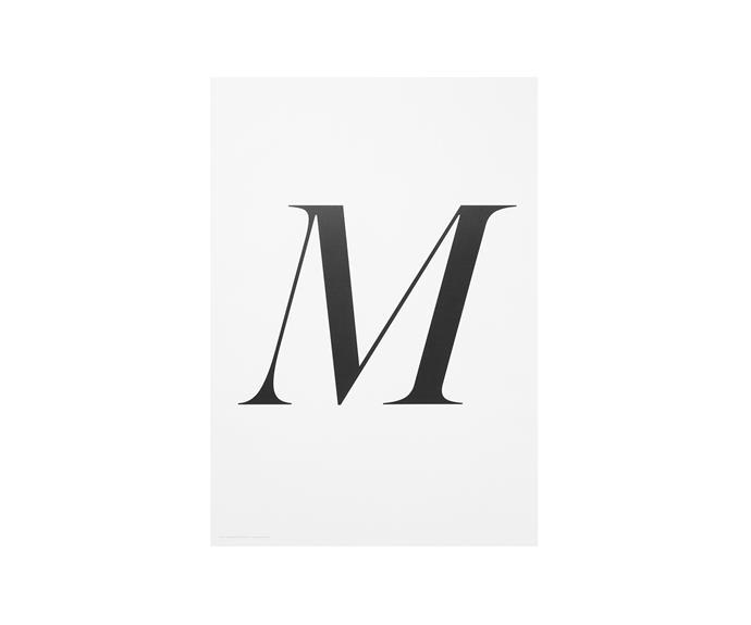 "M print, $99, [The Minimalist](http://www.theminimalist.com.au/?utm_campaign=supplier/|target=""_blank"")."