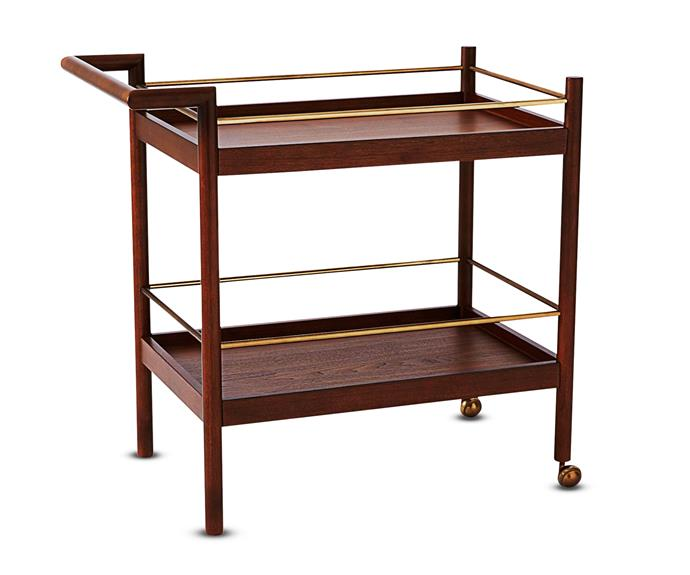 "The warm veneer and clean joinery of West Elm's 'Mid-Century' bar cart, $499, will add sophistication to any entertaining space. [West Elm](http://www.westelm.com.au/|target=""_blank"")."