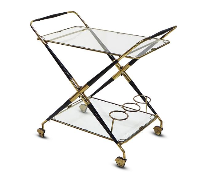 "Like this 50s serving trolley, POA, Cesare Lacca's designs are characterised by a sense of balance and timelessness. [Nicholas And Alistair](http://nicholasandalistair.com/|target=""_blank"")."