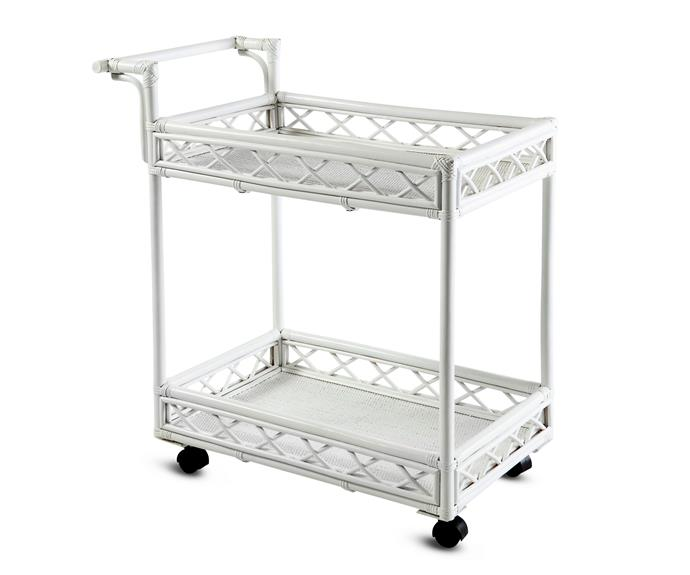 "Working equally well in a tea or cocktail party setting, the 'Barbados' trolley, $799, is a breath of fresh Caribbean air. [Xavier Furniture](http://xavierfurniture.com.au/|target=""_blank"")."