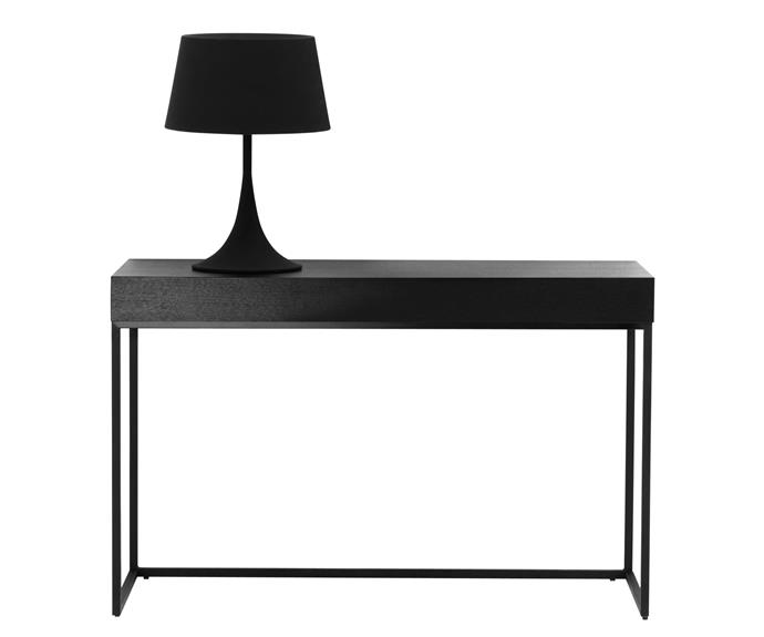 """A desk for the home office, a bedroom dresser or a sideboard in the living room, BoConcepts 'Brest' console table is highly versatile, [BoConcept](http://www.boconcept.com//?utm_campaign=supplier/
