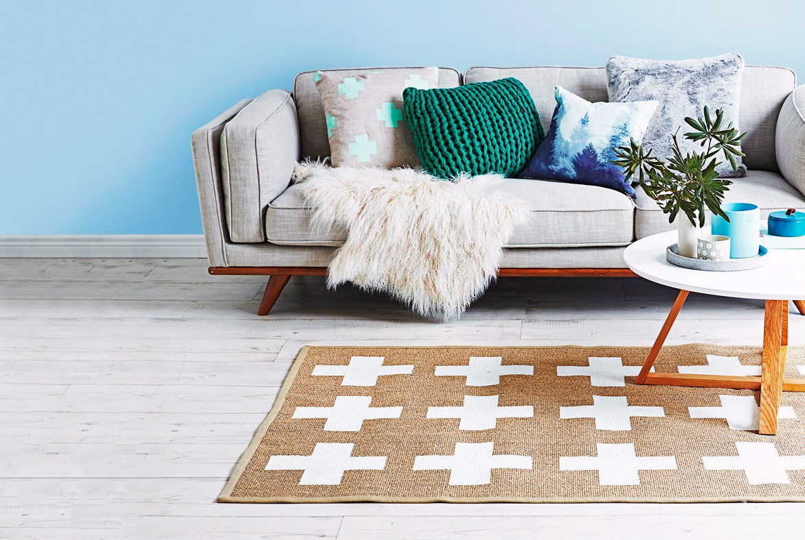 Use your cushions to add pops of colour to your living room. Andrew Finlayson / bauersyndication.com.au