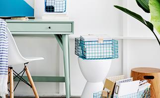 DIY home office storage