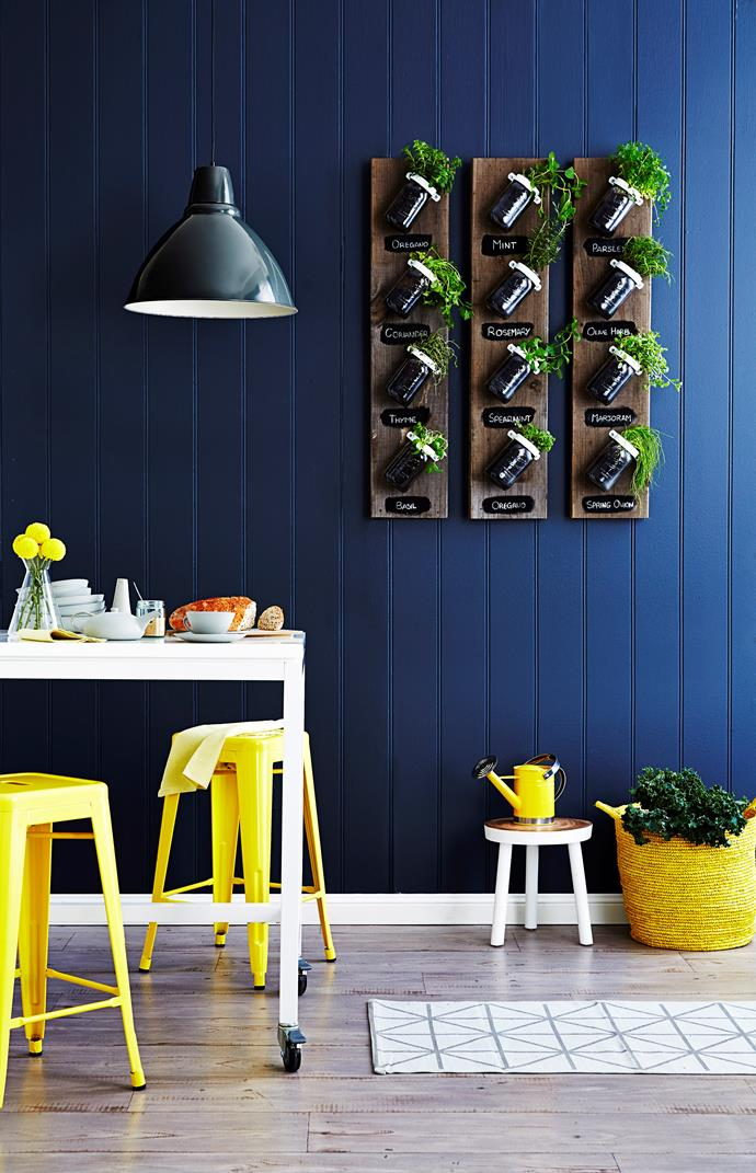 Have fresh herbs on hand 24/7 with a vertical herb garden in your kitchen. Photo: David Wheeler / bauersyndication.com.au