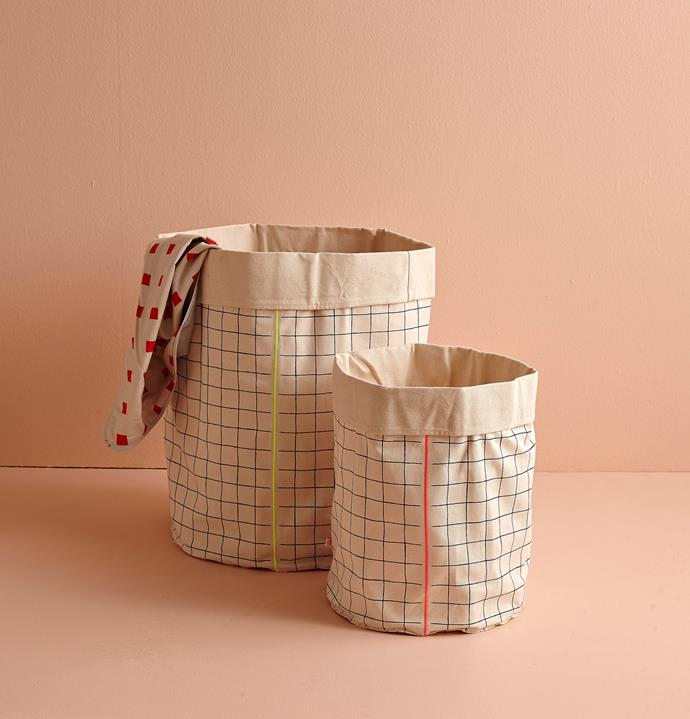 There are plenty of stylish baskets and boxes available to stash your clutter. Photo: Will Horner / bauersyndication.com.au