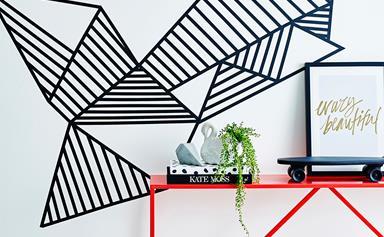 Handy woman: DIY washi tape wall art