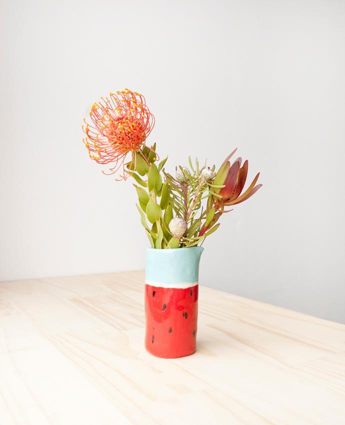 "Annie watermelon posie jug, $35, [thingsbybea](https://www.etsy.com/au/listing/215007807/angie-jug-watermelon-porcelain-vase-jug?ref=shop_home_active_15/?utm_campaign=supplier/ target=""_blank"")."