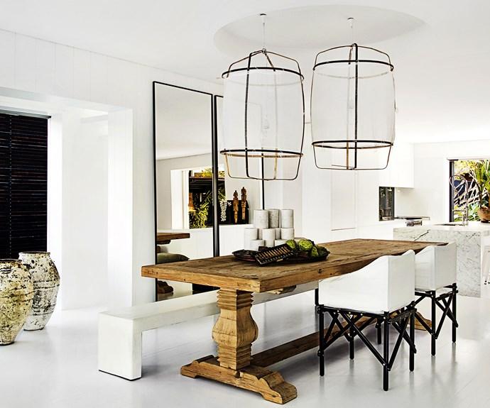statement lighting dining room