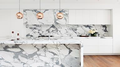All white: Sophisticated kitchens & bathrooms