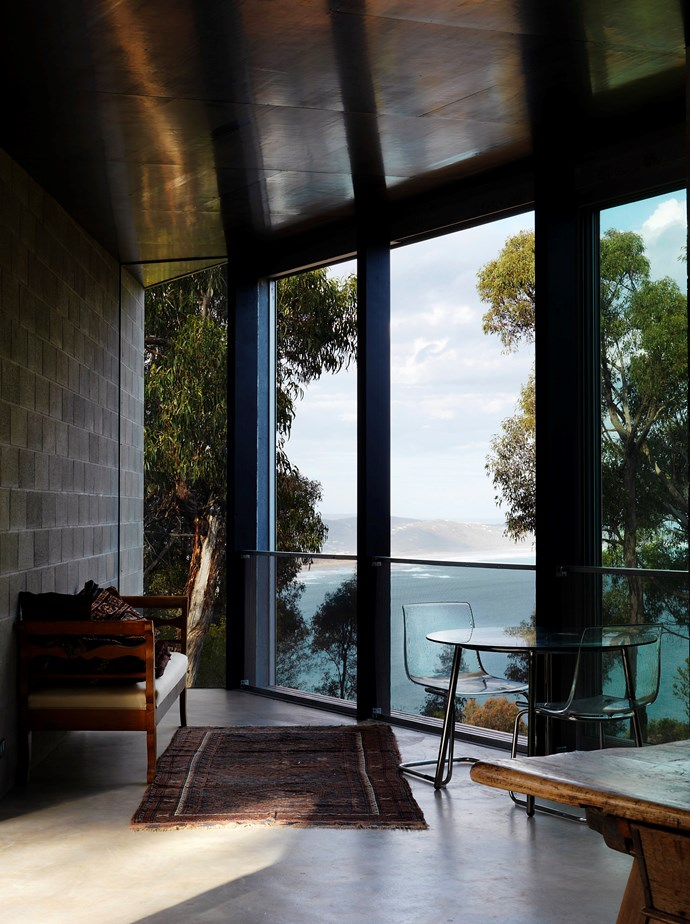 """Kirsten worked on Big Hill House on Victoria's Great Ocean Road. """"I am not one of those architects who cares about how a place is decorated once it is completed. I am very open, in fact, I enjoy seeing how different people choose to use the space for daily living,"""" she says."""