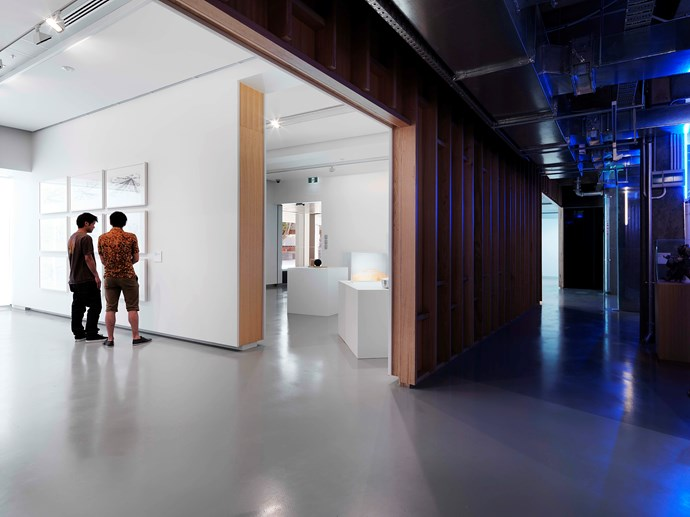 Her recent remodelling of a 1960s gallery and car park space at Monash University Museum of Art (MUMA) balanced the curatorial needs for a modernist white box with a much less finessed, more expressive circulation space.