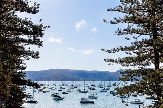 A closer look at the view over Pittwater.