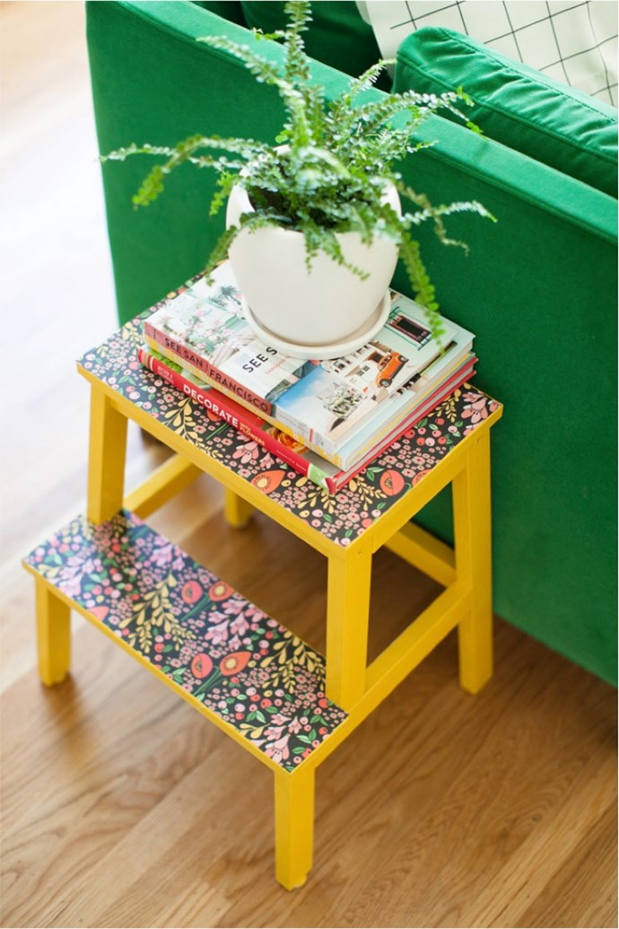 "**Upcycle furniture:** A basic IKEA stepladder can easily become the most attractive piece of furniture in your house with a little paint and [removable wallpaper](https://www.homestolove.com.au/diy-removable-wallpaper-7041|target=""_blank""
