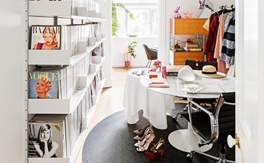 Fashion Stylist Mikey Ayoubi's vibrant studio