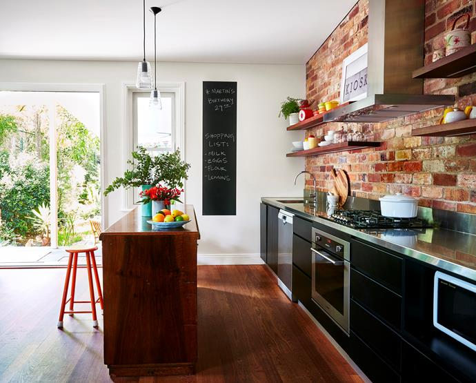"""Embellish your kitchen with [bright accessories and vibrant florals](http://www.homestolove.com.au/a-cafe-inspired-kitchen-with-eco-credentials-3161