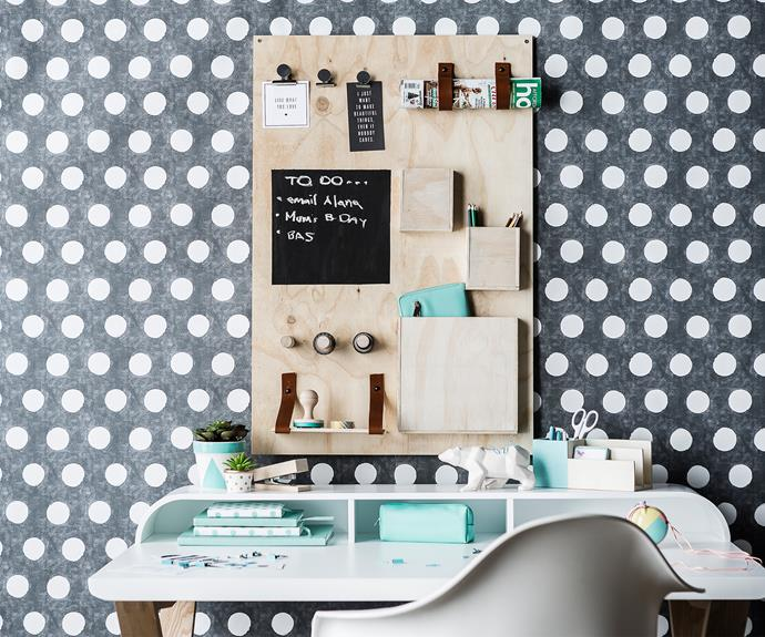 """**Plywood desk organiser** Can't see your desk under that sea of paper and pens? Declutter your work area and free up your desk space with this clever organiser that stores all your bits and bobs in view. Customise it to suit your needs. [Watch this video to learn how to make your own.](http://www.homestolove.com.au/diy-plywood-desk-organiser-3172