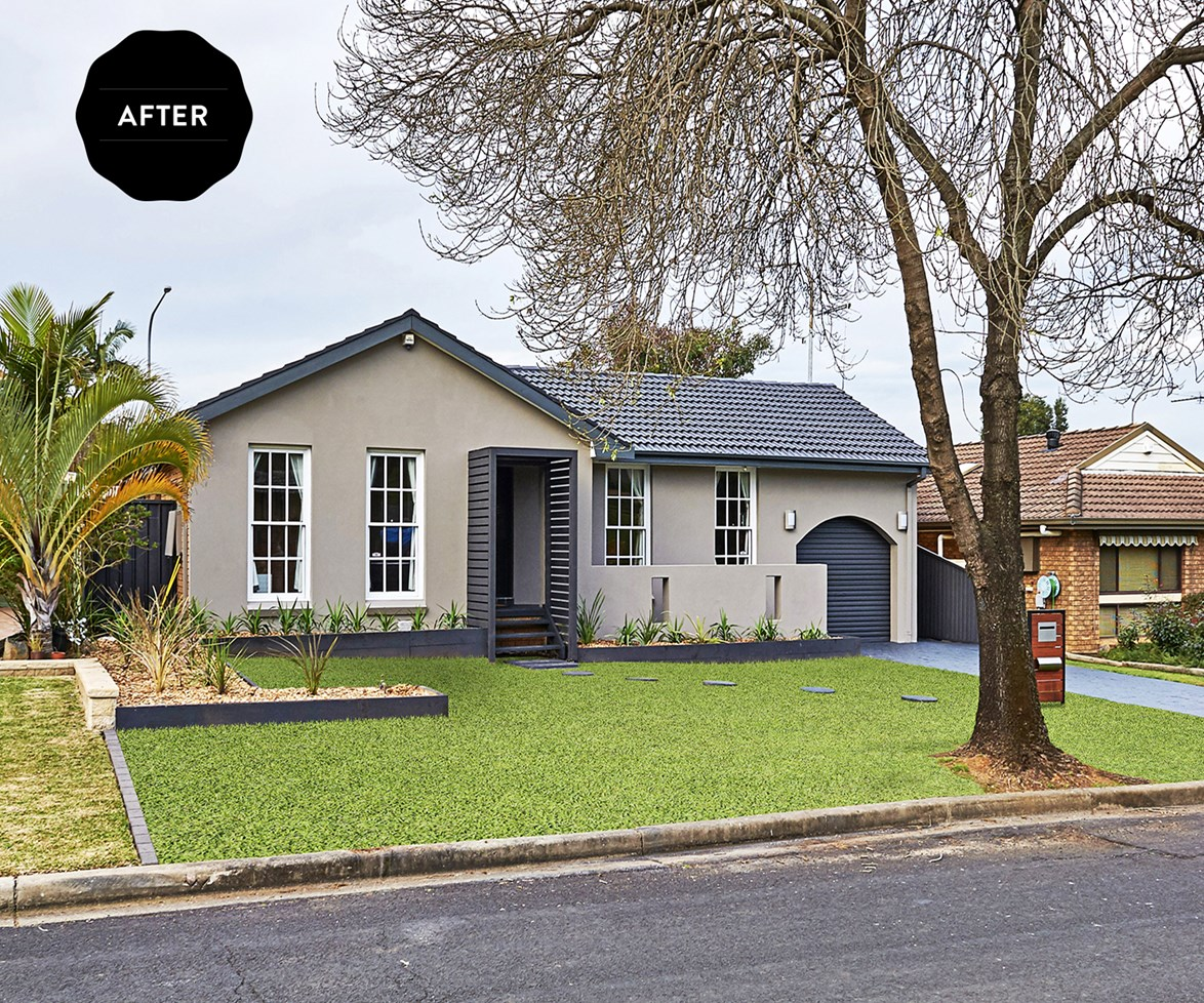 """""""It wasn't necessary to do the entire house – the focus was on street appeal,"""" says renovation expert Cherie Barber. [See the before shots here](http://www.homestolove.com.au/fresh-look-for-old-home-3212