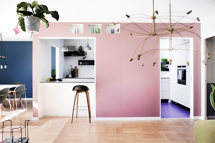 """""""I'm not afraid to use more than one colour in a room... the sight of a white wall bores me,"""" says homeowner Jane Bach. """"Colour makes me so happy. Painted walls create harmony and complete the decor."""""""