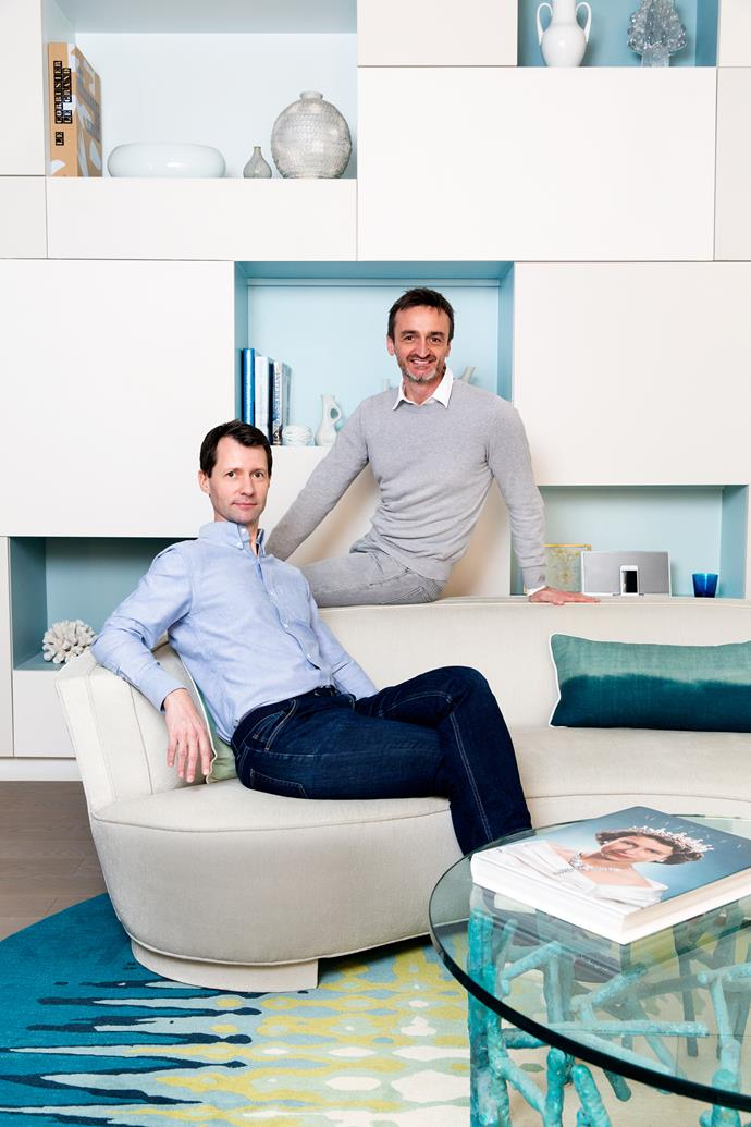 Writer Ian Phillips (left) and photographer Stephan Julliard in their Paris home.