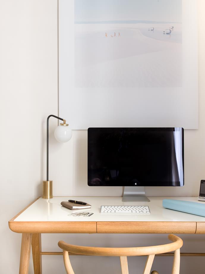'Maya' desk by Dare Studio. Artwork by Julia Christe.