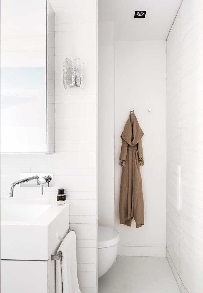 'Kalmar' wall sconce in bathroom bought at Orange in LA.
