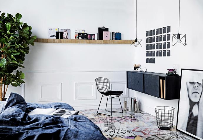 "**Bedroom // Study** Big Nest floating **cabinets**, $499 each, [Plyroom](http://www.plyroom.com.au/?utm_campaign=supplier/|target=""_blank""). Bookrest **shelves** (we used 3 end-to-end), $140 each, [Work Shop Objects](http://www.work-shop.net.au/?utm_campaign=supplier/
