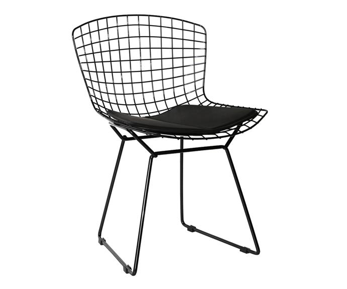 "Marco wire **chair**, $119, [Clickon Furniture](http://www.clickonfurniture.com.au/?utm_campaign=supplier/|target=""_blank"")."
