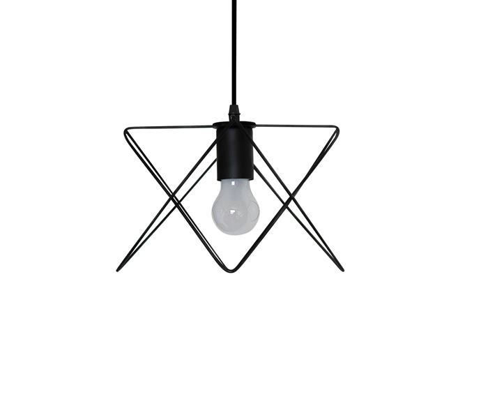 "Tahti Iron **pendant light**, $149.90, [Valo Design](http://www.valodesign.com.au/?utm_campaign=supplier/|target=""_blank"")."