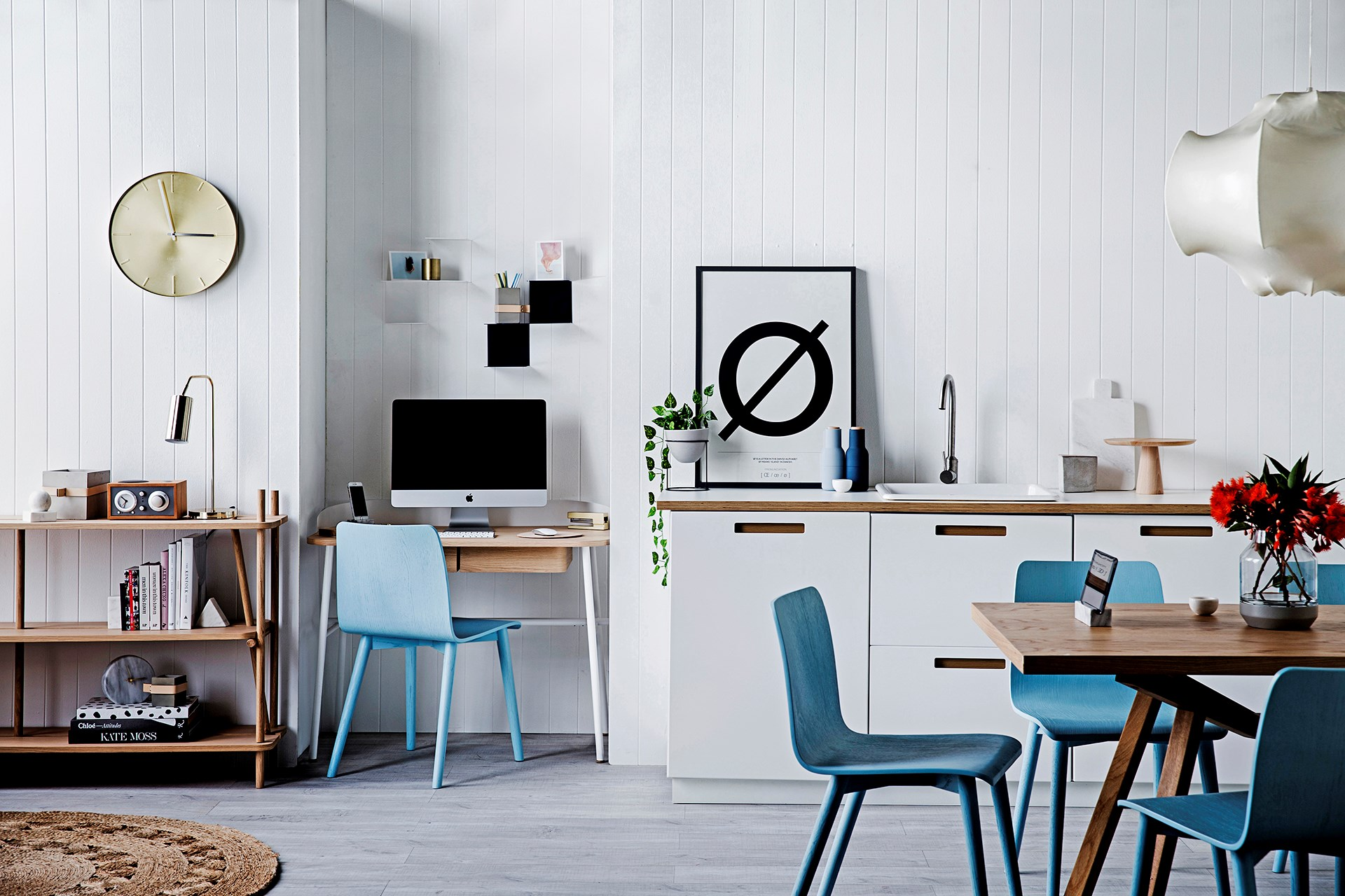 "An office nook near the kitchen is easily one of the most practical trends emerging in our homes of late. [Shop ideas](http://www.homestolove.com.au/how-to-style-a-study-nook-3263|target=""_blank"") for styling up this space. Photo: Chris Warnes / *real living*"