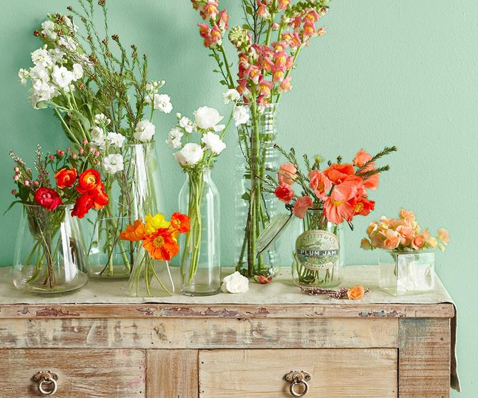 how to pair flowers with vases