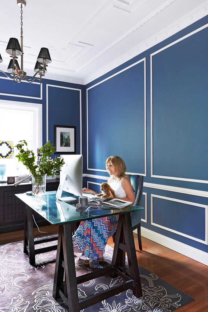 "Interior designer Ann King has a beautiful study within her [elegant California bungalow](http://www.homestolove.com.au/gallery-all-the-bright-moves-3226|target=""_blank"") that enables her to work from home. Photo: John Paul Urizar / *Australian House & Garden*"