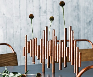 How to make a copper vase centrepiece