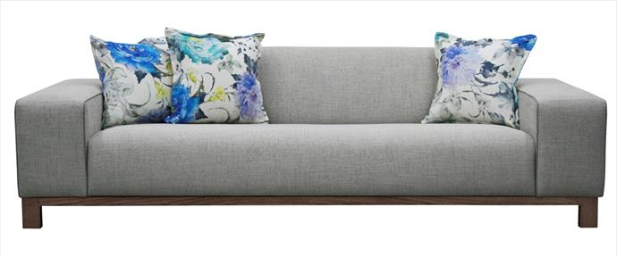 "Minimalist lines make this ideal for contemporary interiors. A solid timber frame and legs are complemented by useful extra-wide arms and poly-acrylic upholstery fabric. Jungle 3-seater sofa in Pumice, $3723, [Jimmy](https://www.jimmypossum.com.au/default.aspx/?utm_campaign=supplier/|target=""_blank"")."