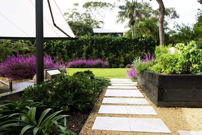 French provincial-style garden in Bilgola.