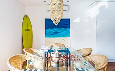 1950s beach shack gets a modern makeover