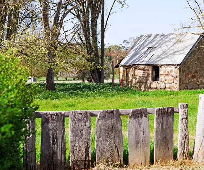 A worker's cottage, built in the 1850s, is now used for storage.