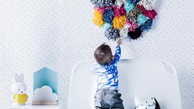 DIY pompom artwork