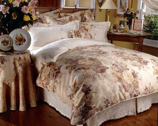 Dated floral bedspread