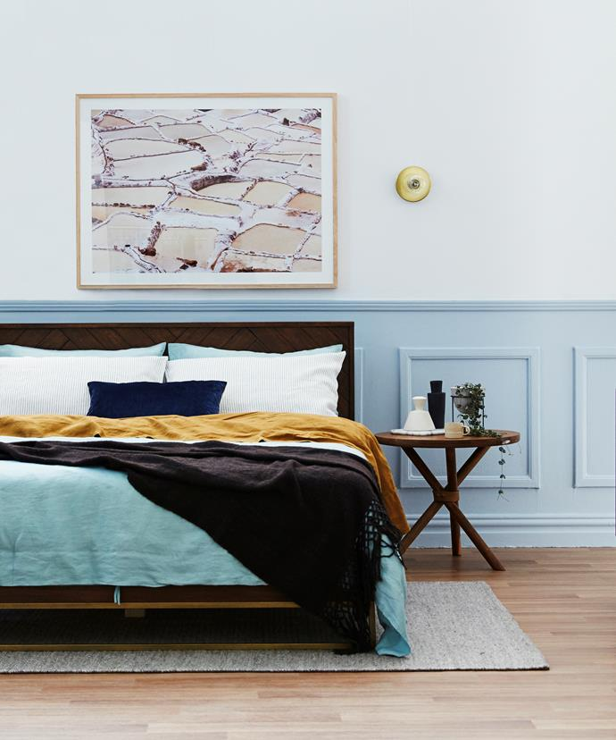 """[Soft sorbets](http://www.homestolove.com.au/pastel-perfection-how-to-colour-block-retro-style-2893