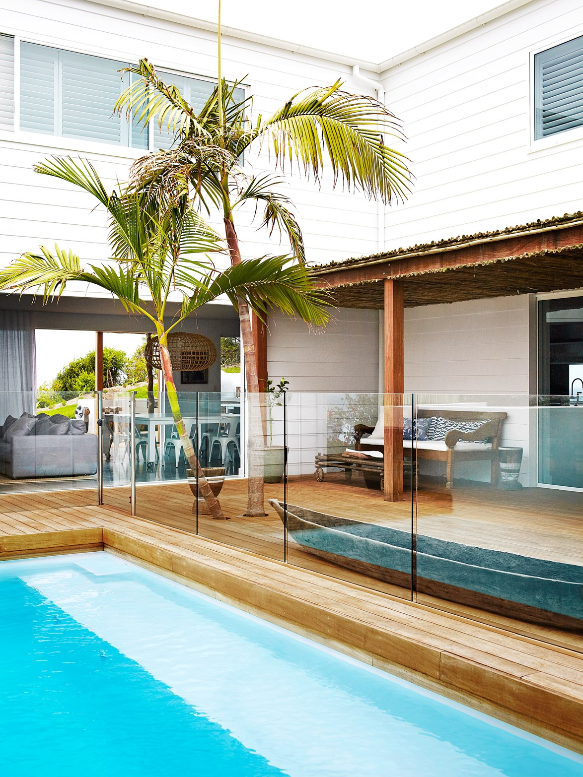 Built from scratch, this [contemporary weatherboard house](http://www.homestolove.com.au/weatherboard-home-with-wow-factor-3458) features a simple yet stylish beachy aesthetic with stunning ocean views. *Photography: Sharyn Cairns | Story: real living*