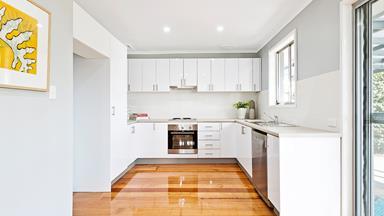 Awkward galley kitchen gets modern makeover for $6000