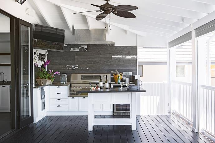 Through the french doors and out on the verandah is an outdoor kitchen every bit as elegant and functional as the main cooking space inside. Both share access to a scullery with walk-in cool room, ice-maker and commercial dishwasher.