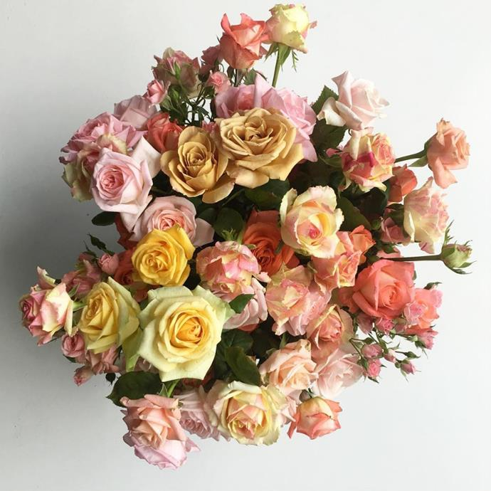 """You can't go wrong with sweet-smelling roses in gorgeous pastel shades. Photo via [@mrcookflowers](https://www.instagram.com/mrcookflowers/?utm_campaign=supplier/
