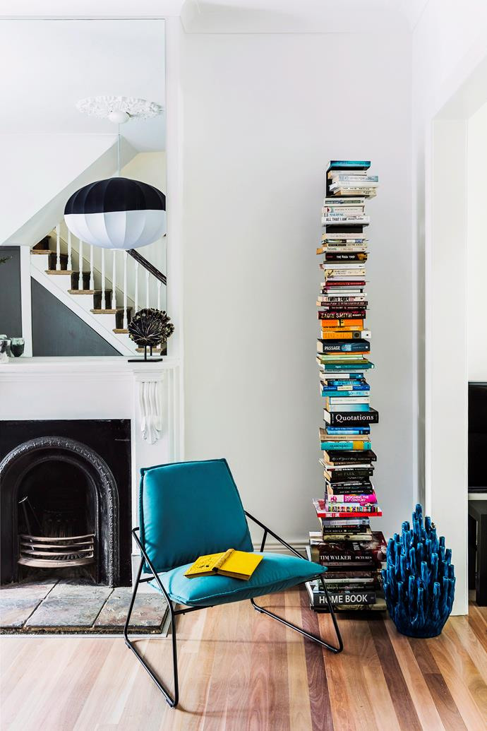 "Sometimes, when storage space is a problem,  the only way to go it up. This striking vertical bookshelf is available from [Space](http://www.spacefurniture.com.au/|target=""_blank""). Having trouble deciding on the perfect bookshelf for your space? [Get the latest advice from interior architect and furniture designer Andrew Waller](http://www.homestolove.com.au/how-to-shop-for-bookcases-in-8-steps-1945